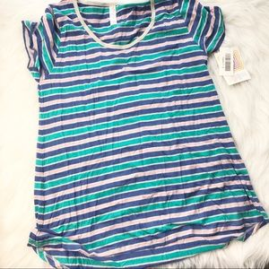 Lularoe striped perfect t NWT Sm